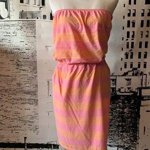 Strapless Cotton Dress XL GREAT SUMMER COLORS!